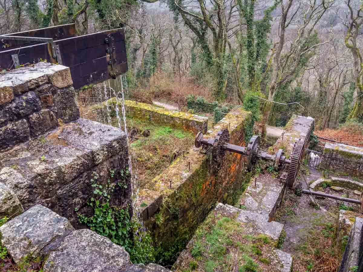 Looking-down-at-the-waterwheel-pit Luxulyan Valley Walk, Cornwall – Industrial Heritage and Natural Beauty