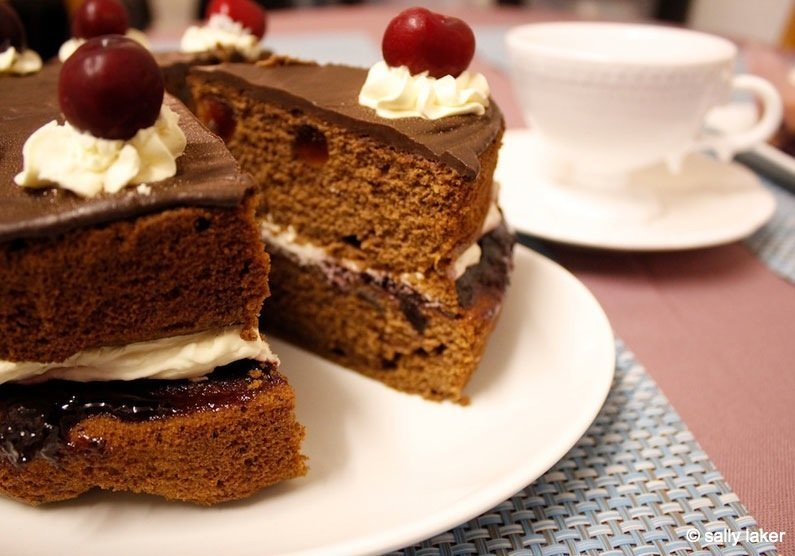 The Food of Love: Chocolate, Amaretto and Cherry Cake
