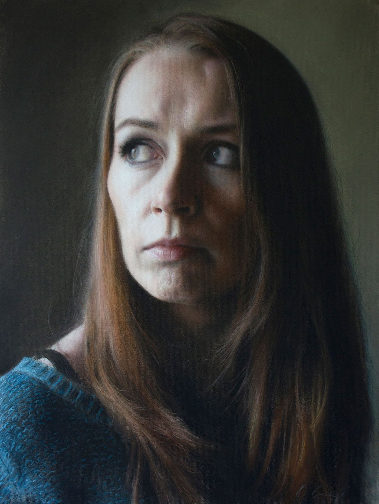 Observing-Light-by-Catherine-Creaney Revealing Expressions – Realistic art by Catherine Creaney