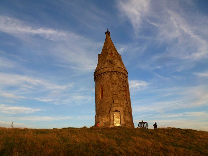Hartshead Pike - The Edge of the Pennines at Dusk