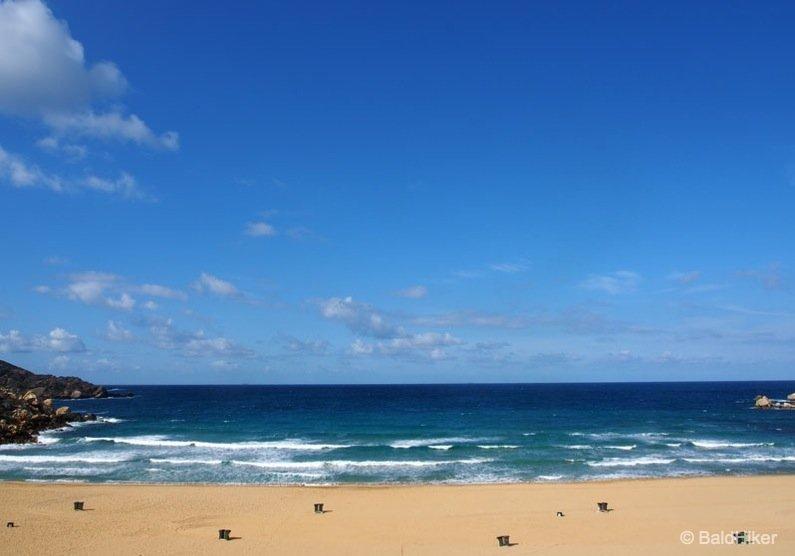 P3250174-beach Malta: Golden Bay Beach