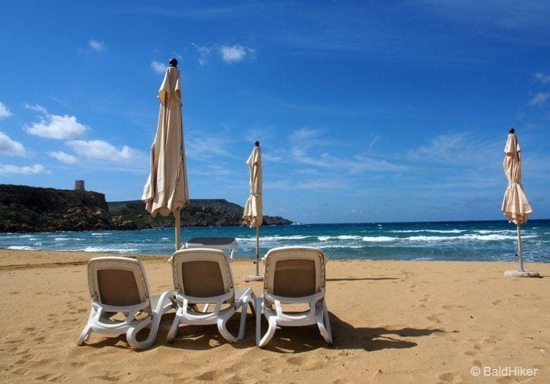 P3250273-beach Malta: Golden Bay Beach