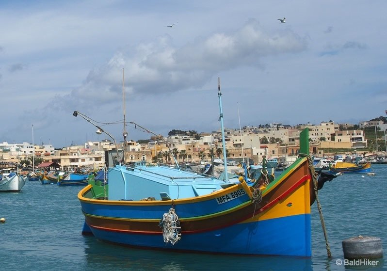 P3260615 marsaxlokk Malta   Marsaxlokk, the colourful fishing village