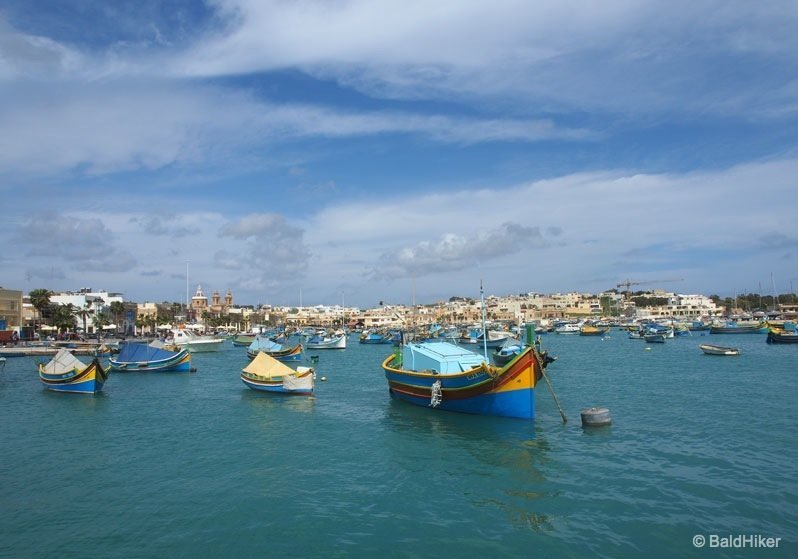 Malta - Marsaxlokk, the colourful fishing village