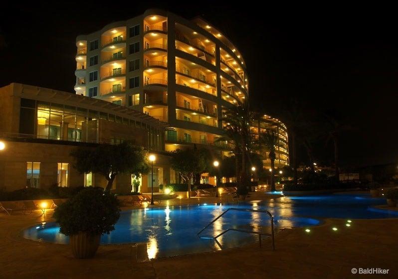 Azure resort malta at night
