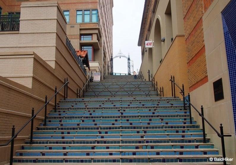 steps at shopping mall