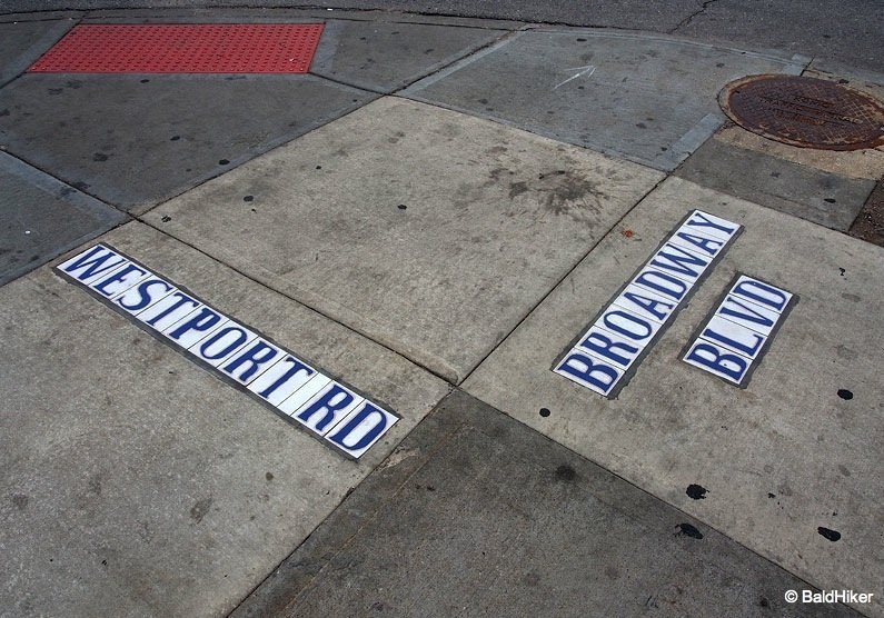street names underfoot