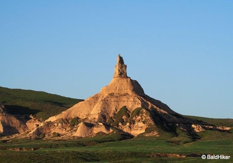 chimney rock at dawn