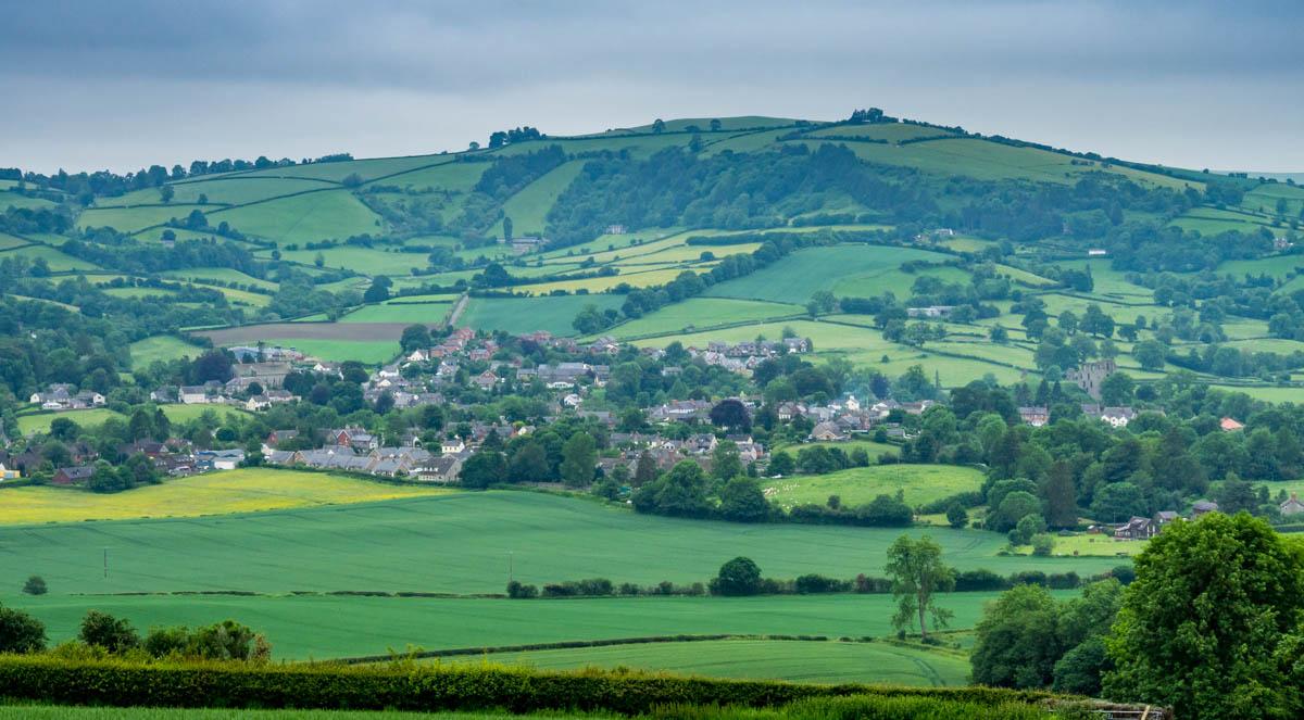 village of Clun, Shropshire