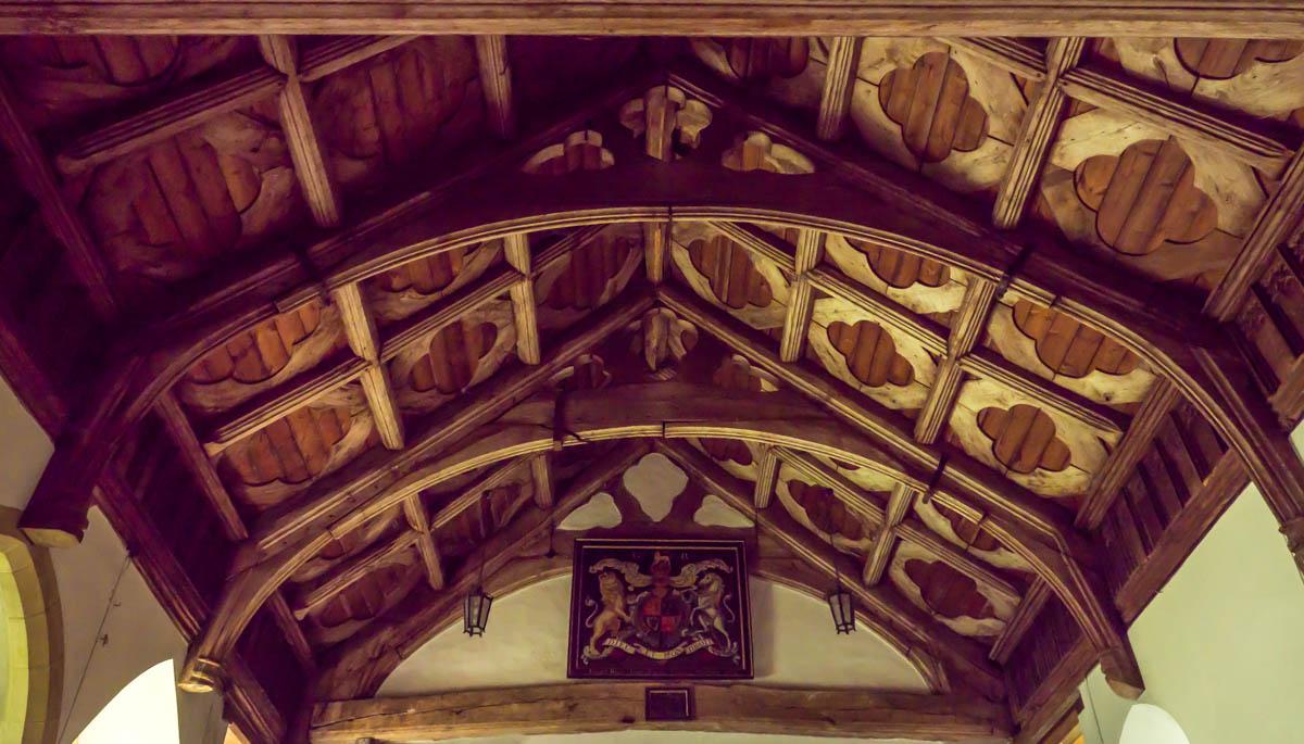 inside St Mary's Church in Hopesay, shropshire