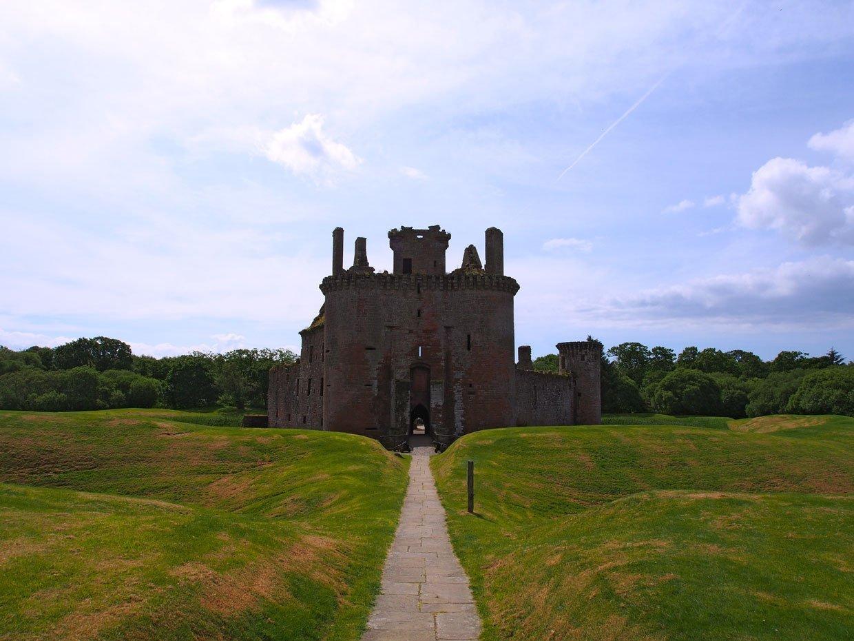 Caerlaverock Castle entrance