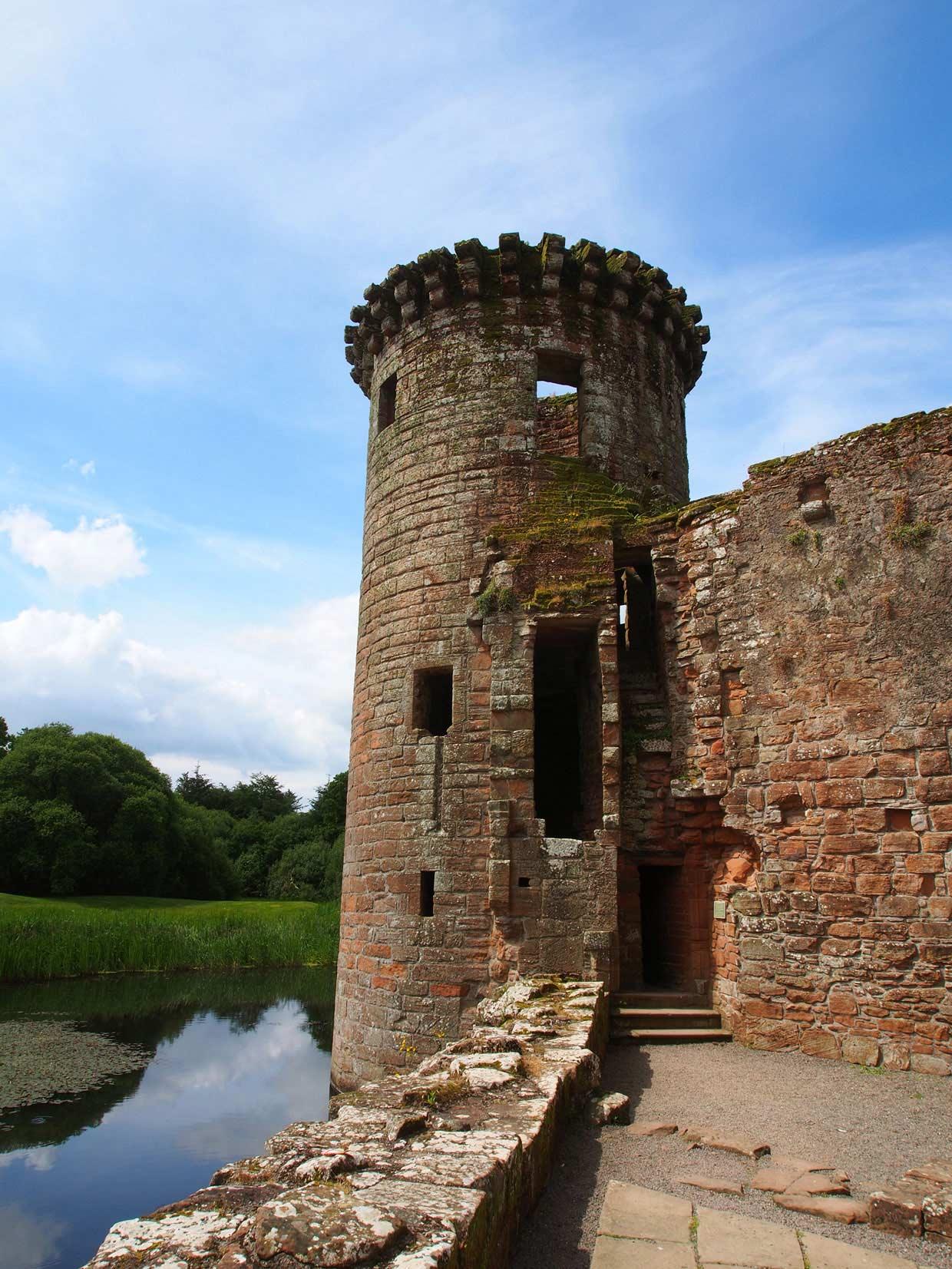 old Caerlaverock Castle tower