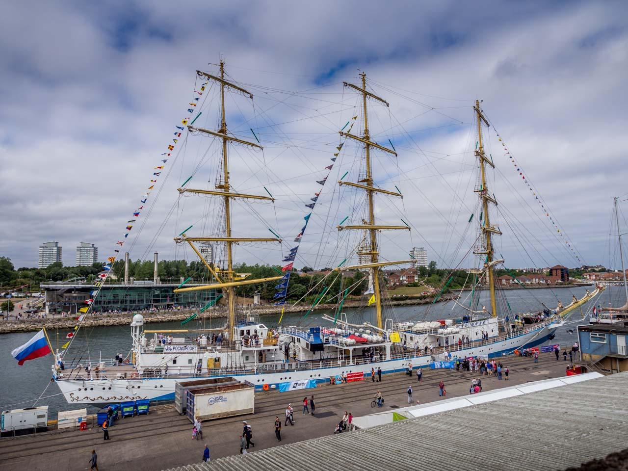 big ship at port