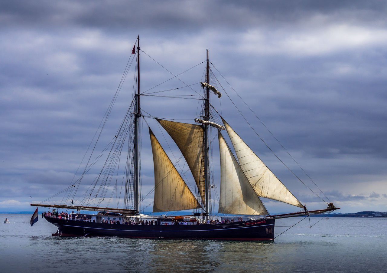 Tall ship at sea Sunderland