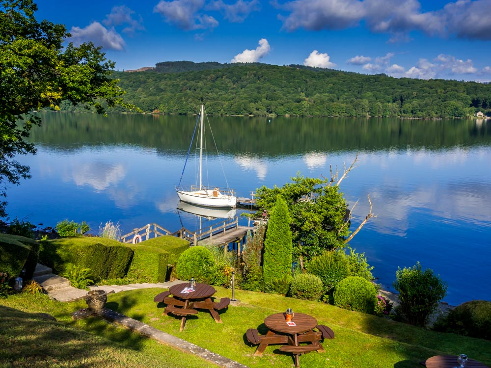 gardens with views over windermere