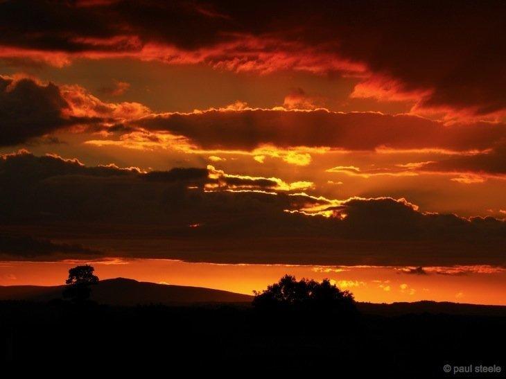 sunset eden valley cumbria