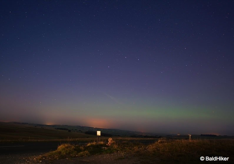 low level northern lights cumbria sep 14 baldhiker