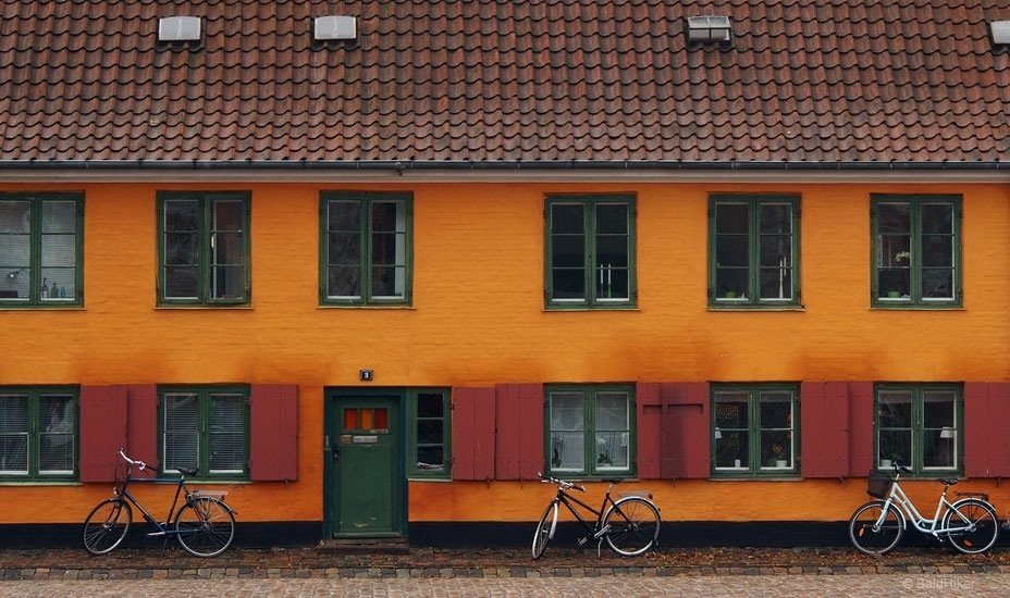 old buildings and bicycles Copenhagen