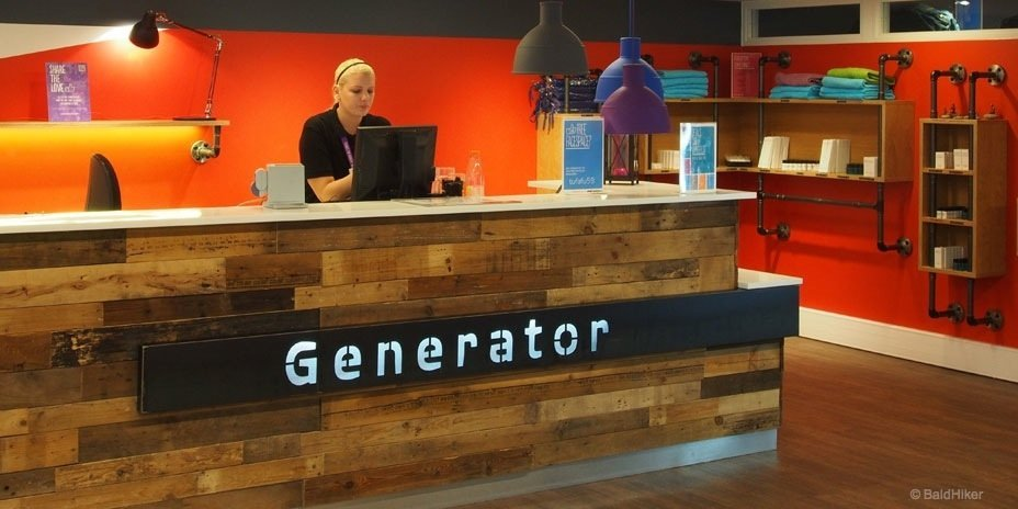 Generator Hostel Copenhagen check in desk