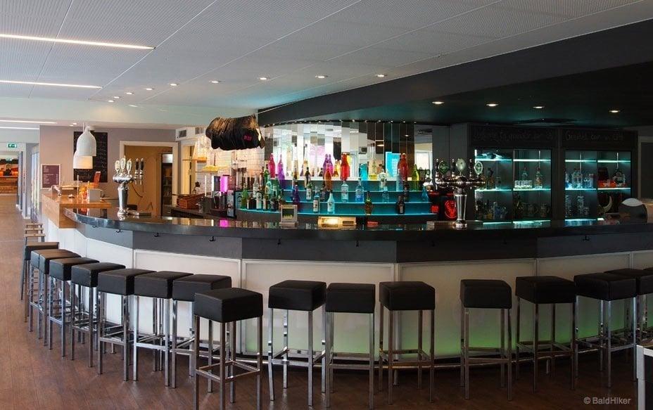 full bar of Generator Hostel Copenhagen
