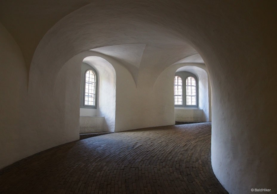 inside ramp Rundetårn of copenhagen