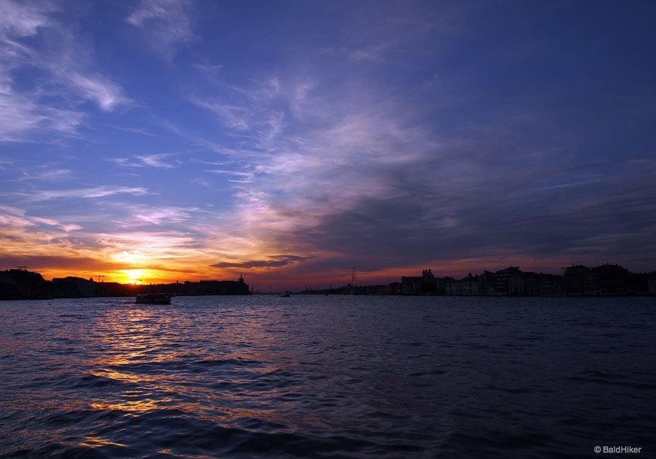 A Venice sunset on the Island of Giudecca