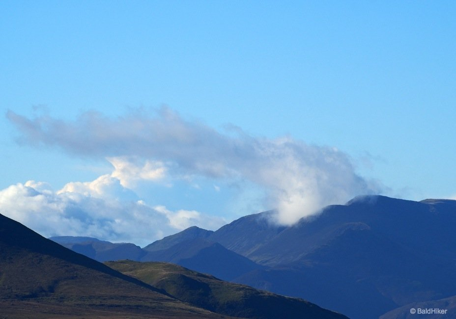 Clouds blowing over Western Fells
