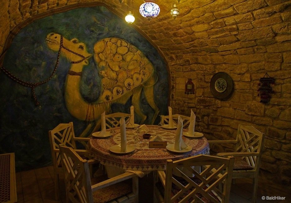 Dining scenes in Old City Baku