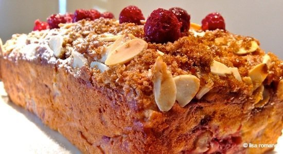 Pear & Raspberry Soda Bread
