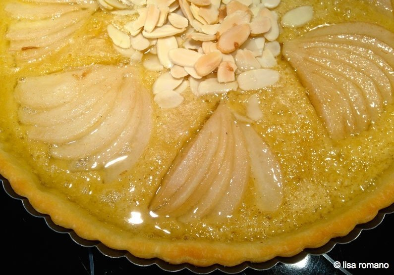 PearTart8 Pear & Almond Frangipane Tart with Lime Syrup