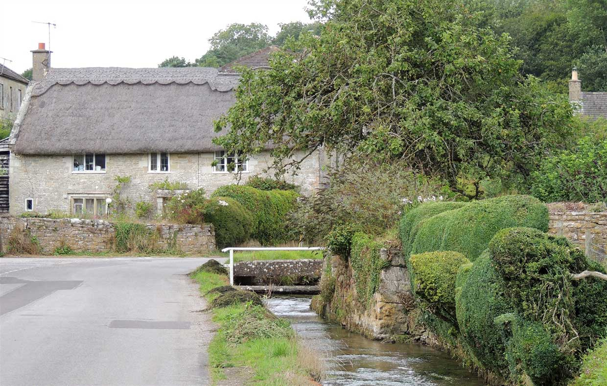 Wiltshire: traditional village charm of Teffont 1