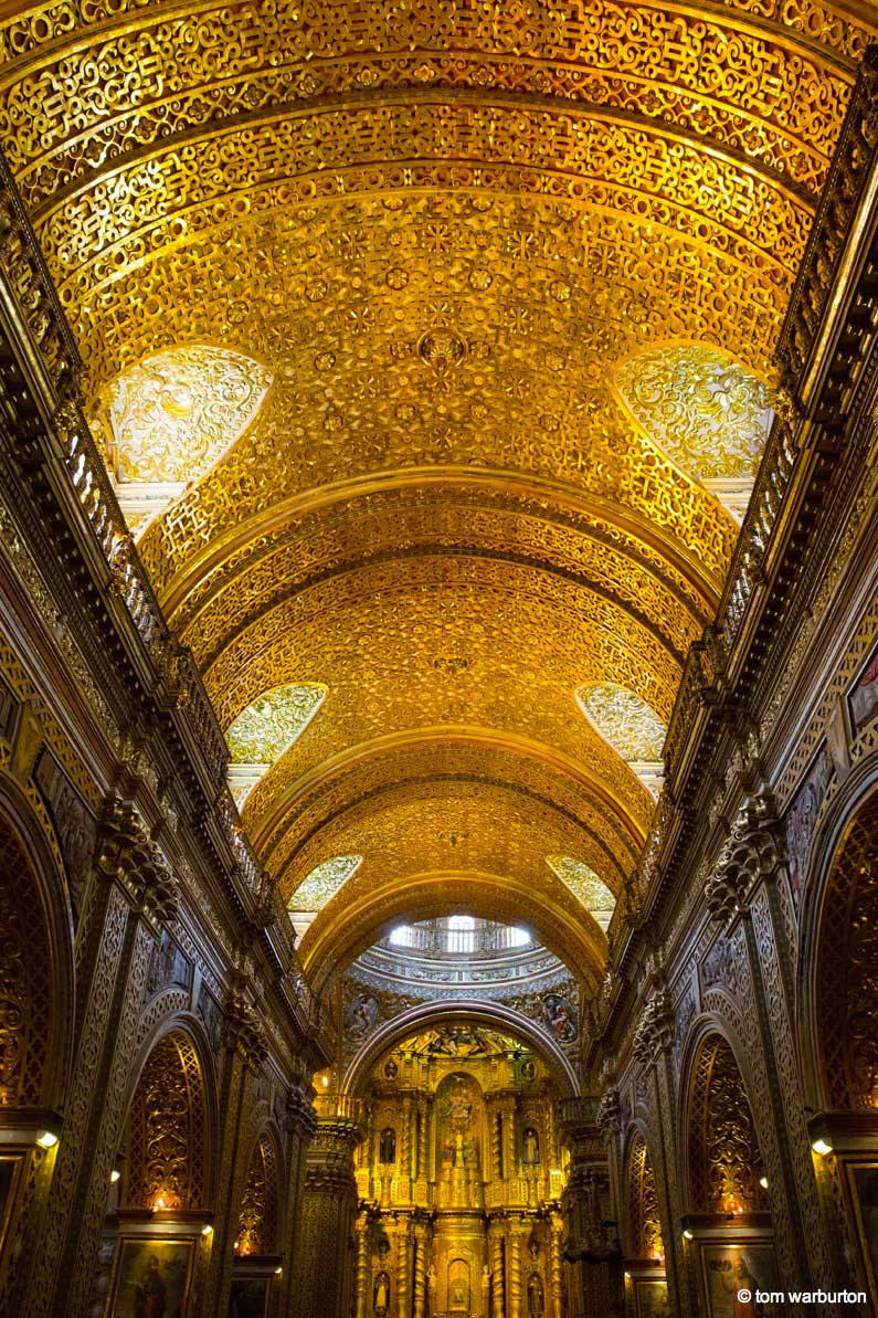church ceiling of gold