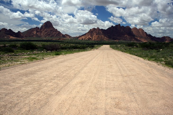 Road-to-Spitzkoppe Landscapes of Namibia