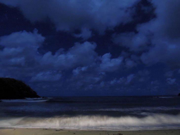 st lucia sea at night