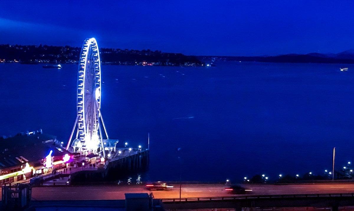 Seattle-Night-Ferris-Wheel Four Seasons Seattle: A Home Run