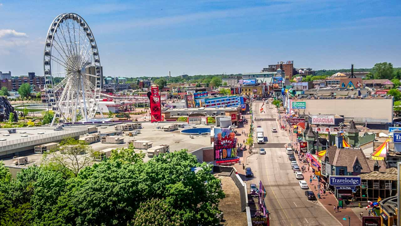 Sheraton-Hotel-Balcony-View-of-funfair Niagara Falls, an Experience with Memories to Treasure