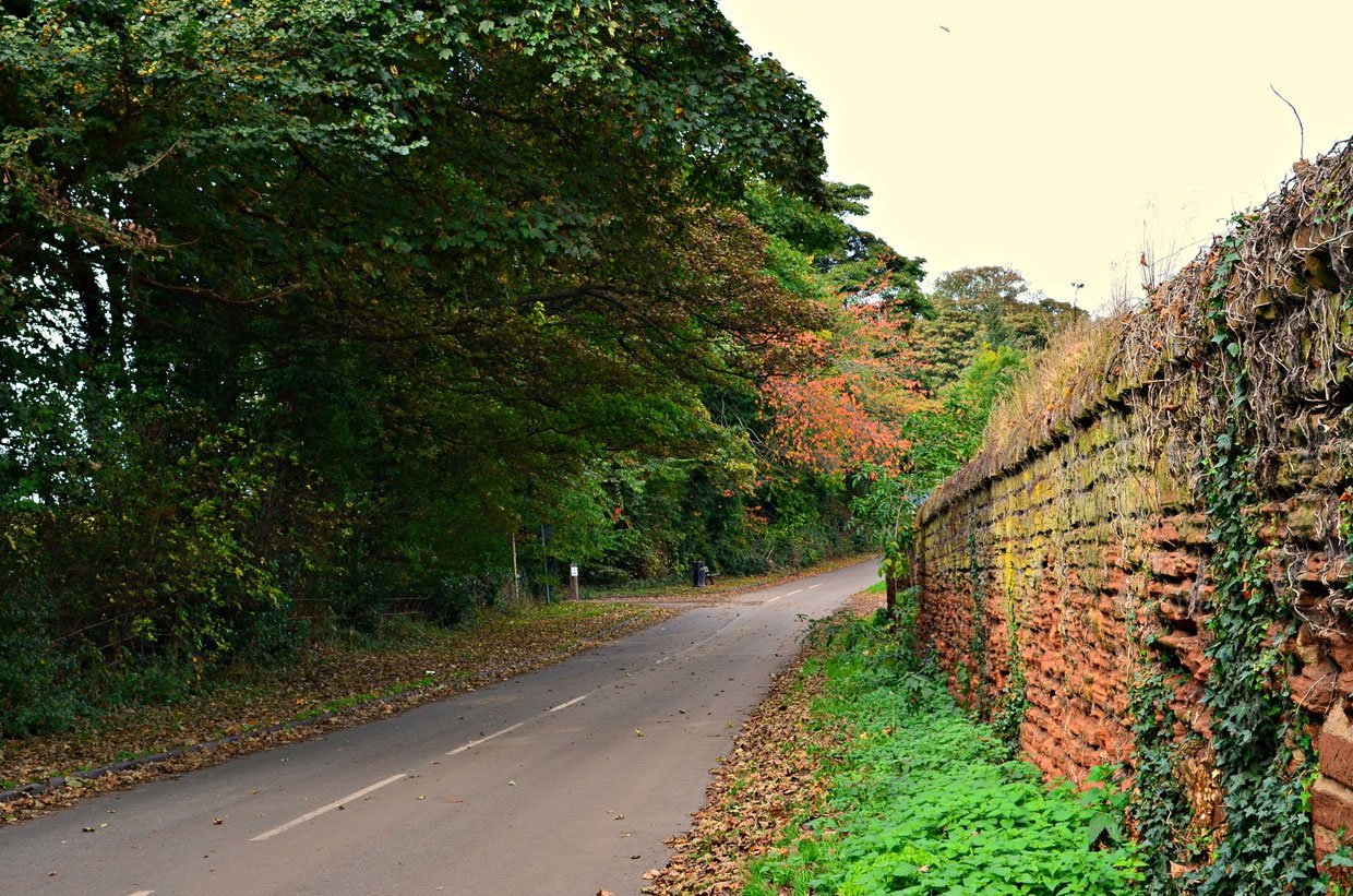 Strelley-Village-Lane1 Strelley Village and Hall, a Nottinghamshire Gem