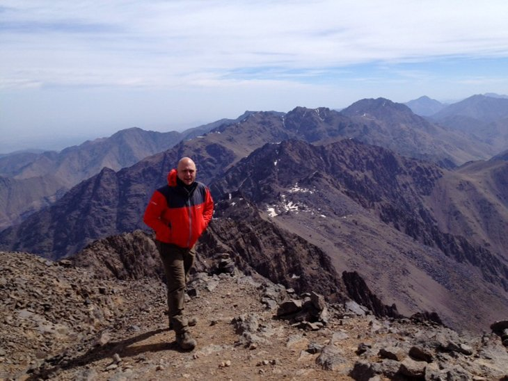 Gooood afternoon and happy Thursday from the summit of Mt Toubkal, Morocco #ExodusTrek