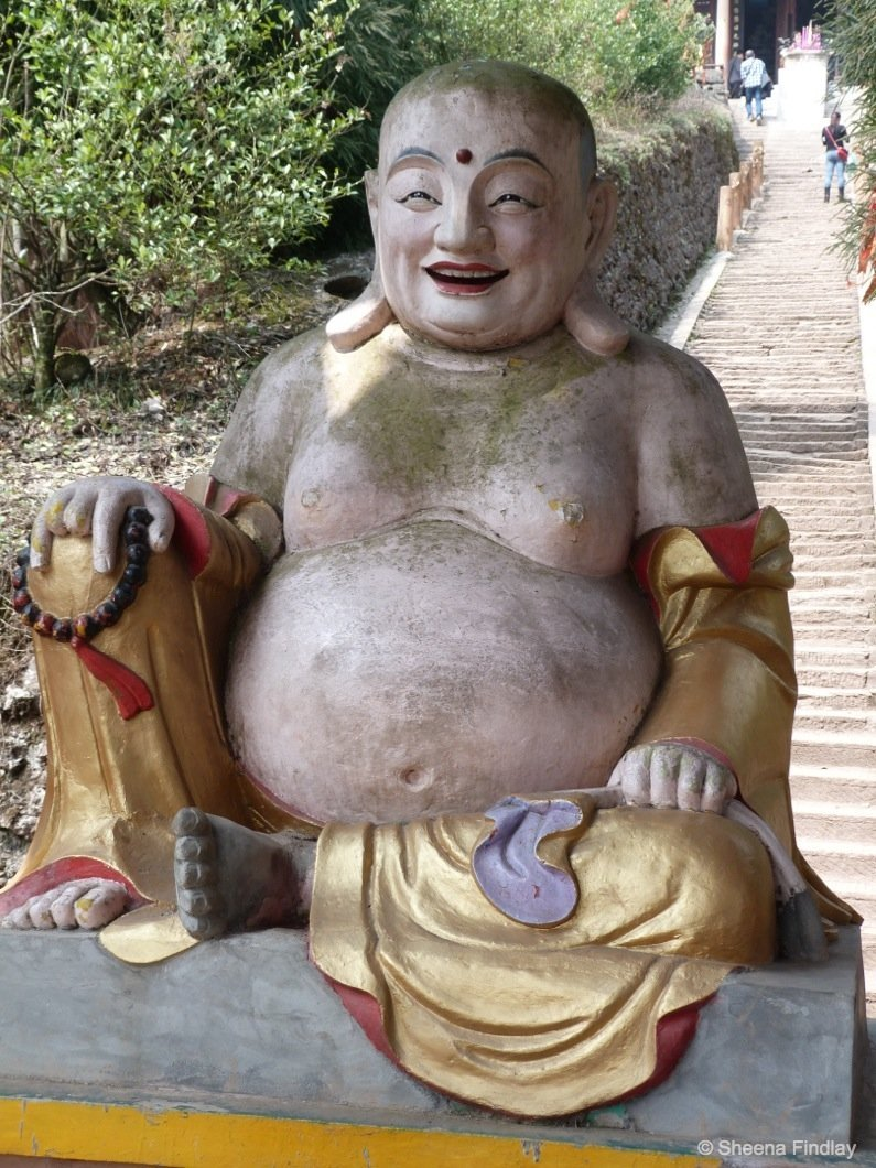 The-laughing-Budda-who-smiles-on-all-who-make-it-to-the-top-2-china A hike up and across Qingcheng Mountain of China
