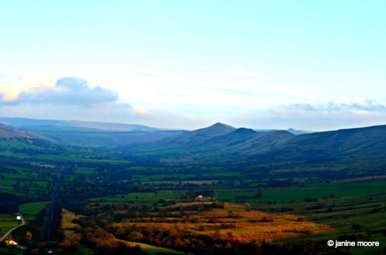 Veiw-from-the-hill Dark Hills and Green Dales – An Edale walk