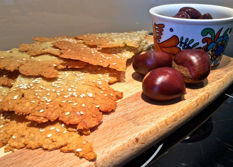 Chestnut & Cheddar Wafers