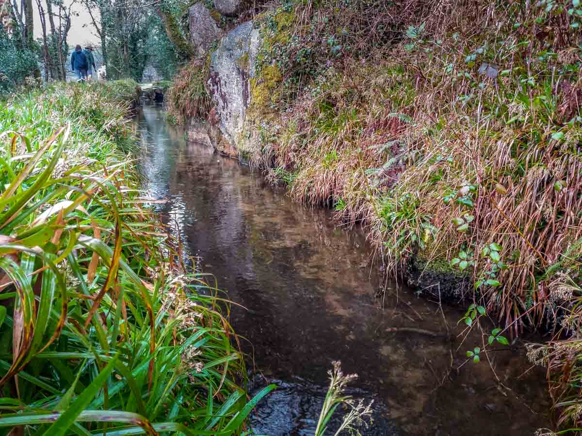 Walking-beside-a-leat Luxulyan Valley Walk, Cornwall – Industrial Heritage and Natural Beauty