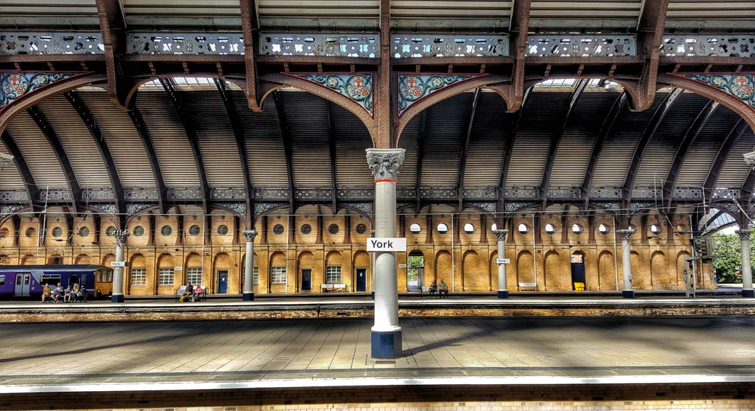 York Railway station splendour