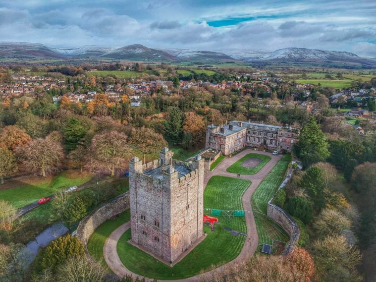 over appleby castle and the pennines