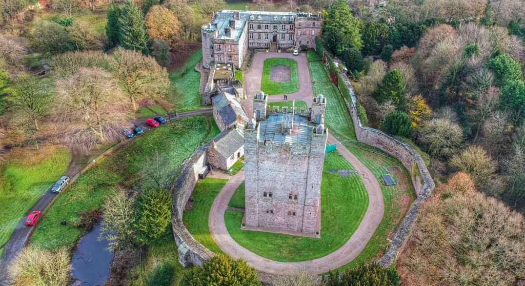 Appleby castle from above