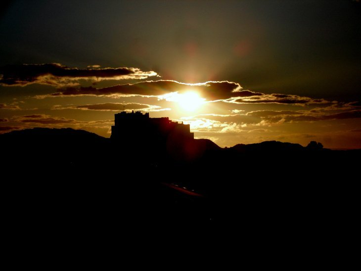 Your Britain – Bamburgh Castle at Sunset by Aline Dobbie