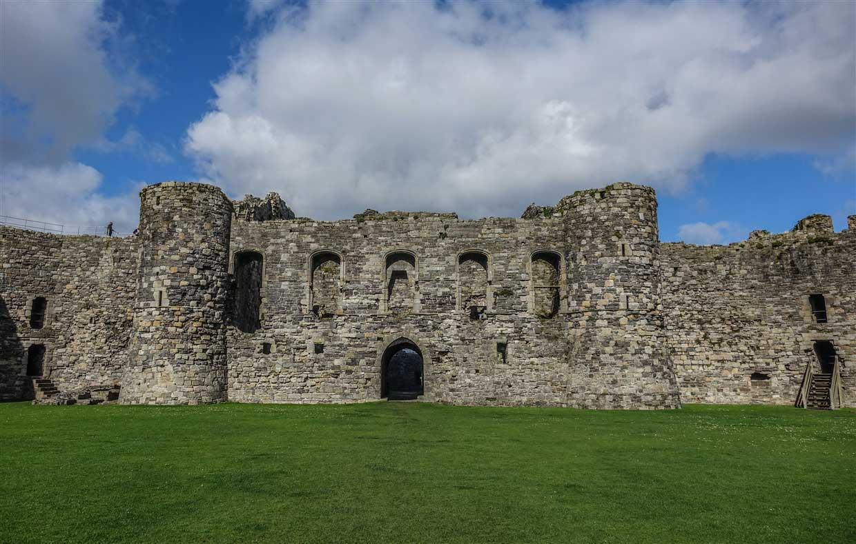 inside beaumaris castle
