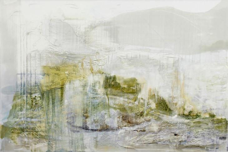 Cevennes Autumn  mixed media with oil on canvas