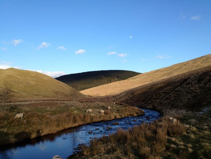 Up The Coquet River To Peak At Scotland