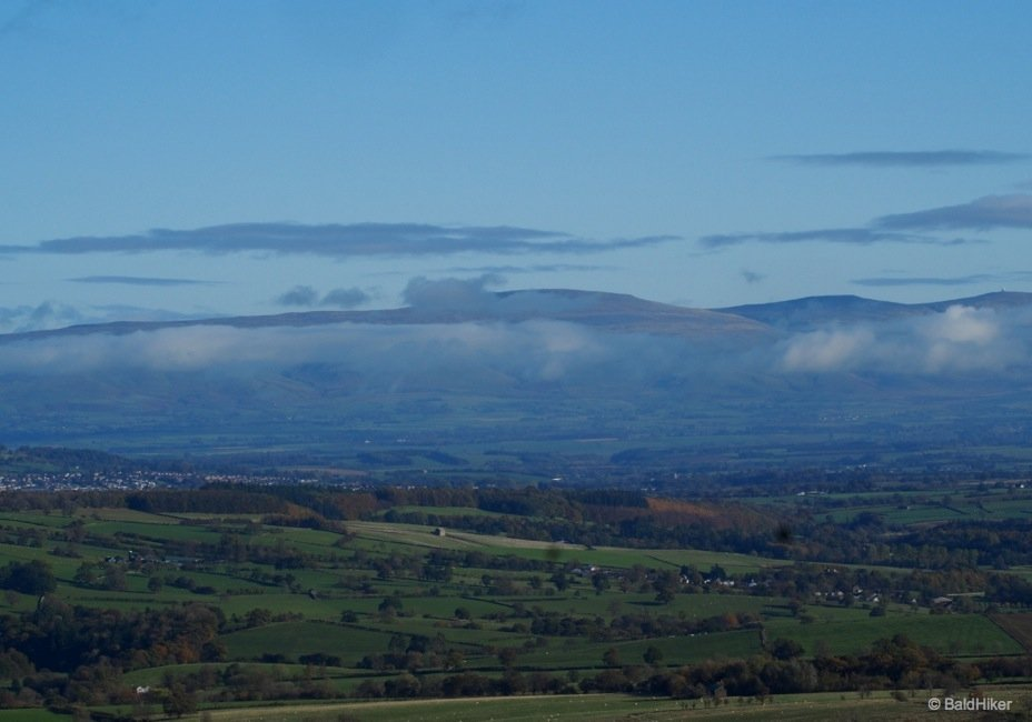 From Great Mell Fell - Looking over the Eden Valley and Penrith to Cross Fell and the Pennines